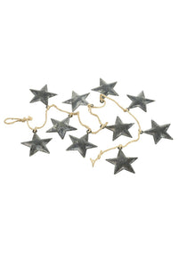 HS Zinc Metal Star Garland