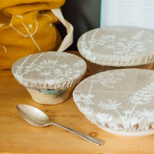 Helen Round Reusable Linen Bowl Covers
