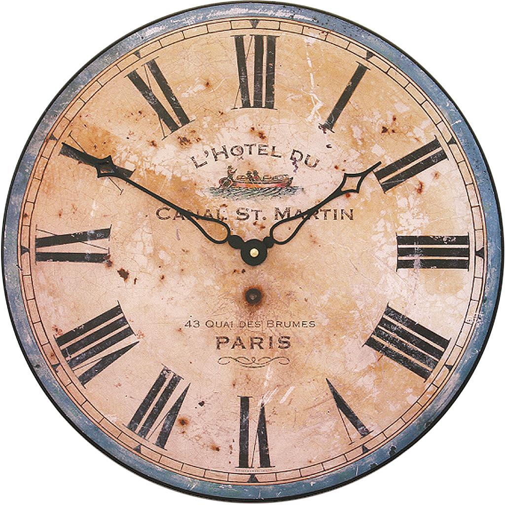 French Hotel Design Wall Clock