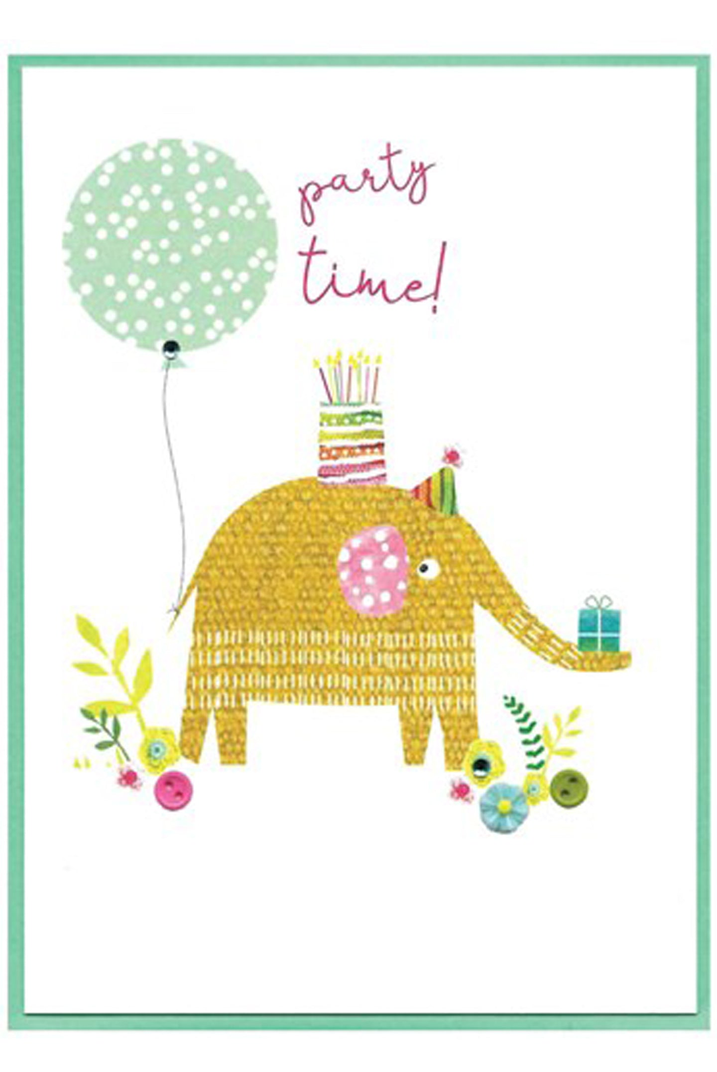 CA Party Time Elephant Birthday Card