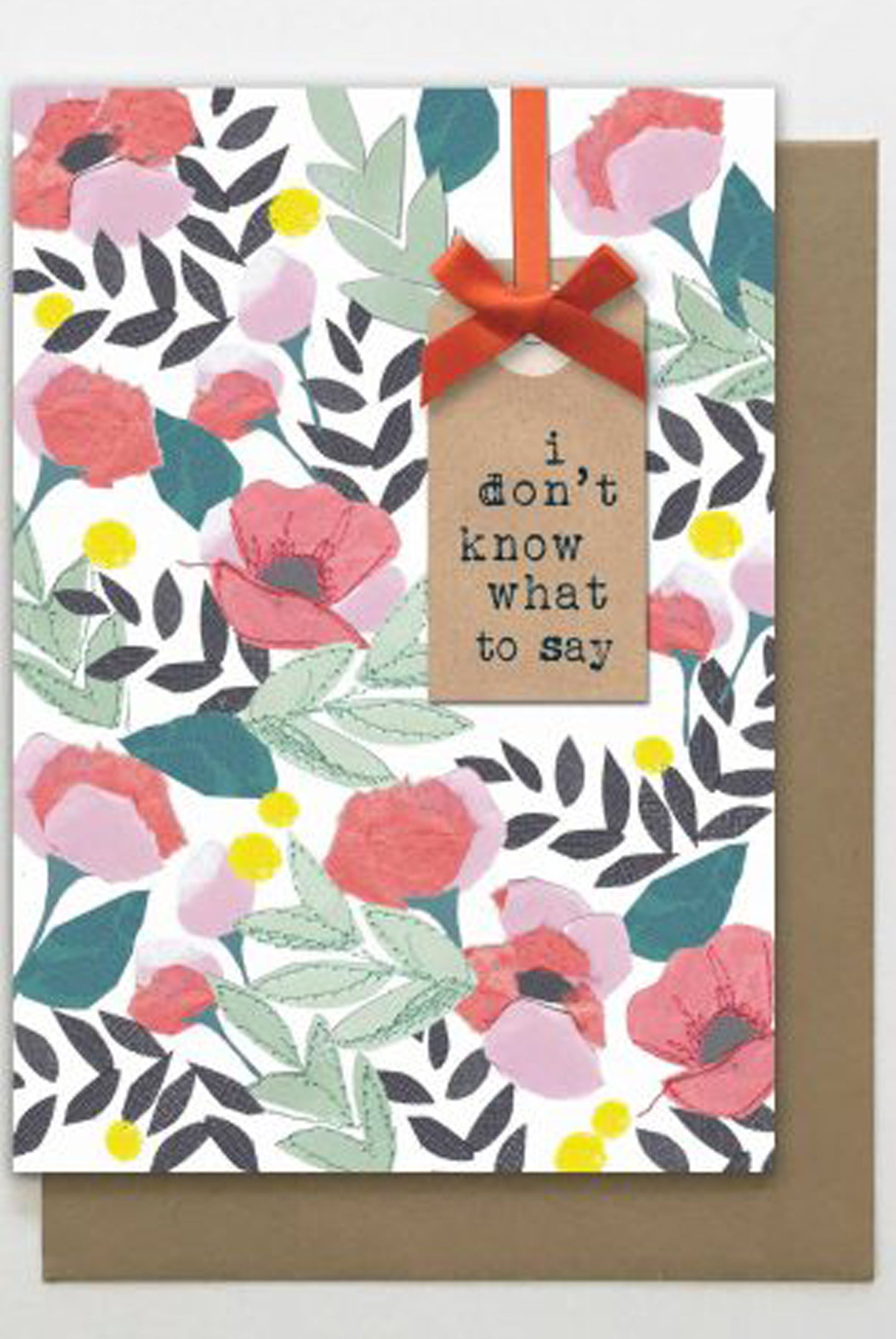 What To Say Floral Card
