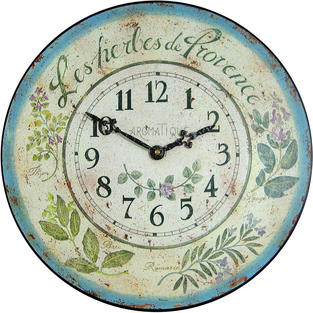 Herb Design Wall Clock