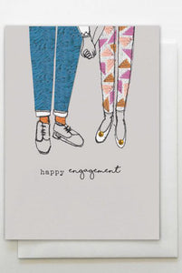Happy Engagement Hands Card