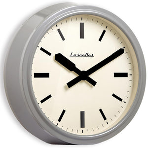 Deep Retro Dove Grey Wall Clock