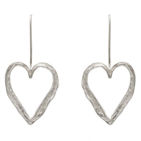 Alison Moore Open Heart Hook Earrings