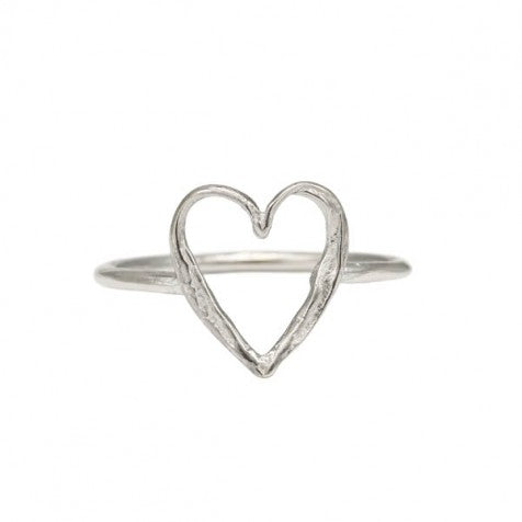 Alison Moore Small Open Heart Ring