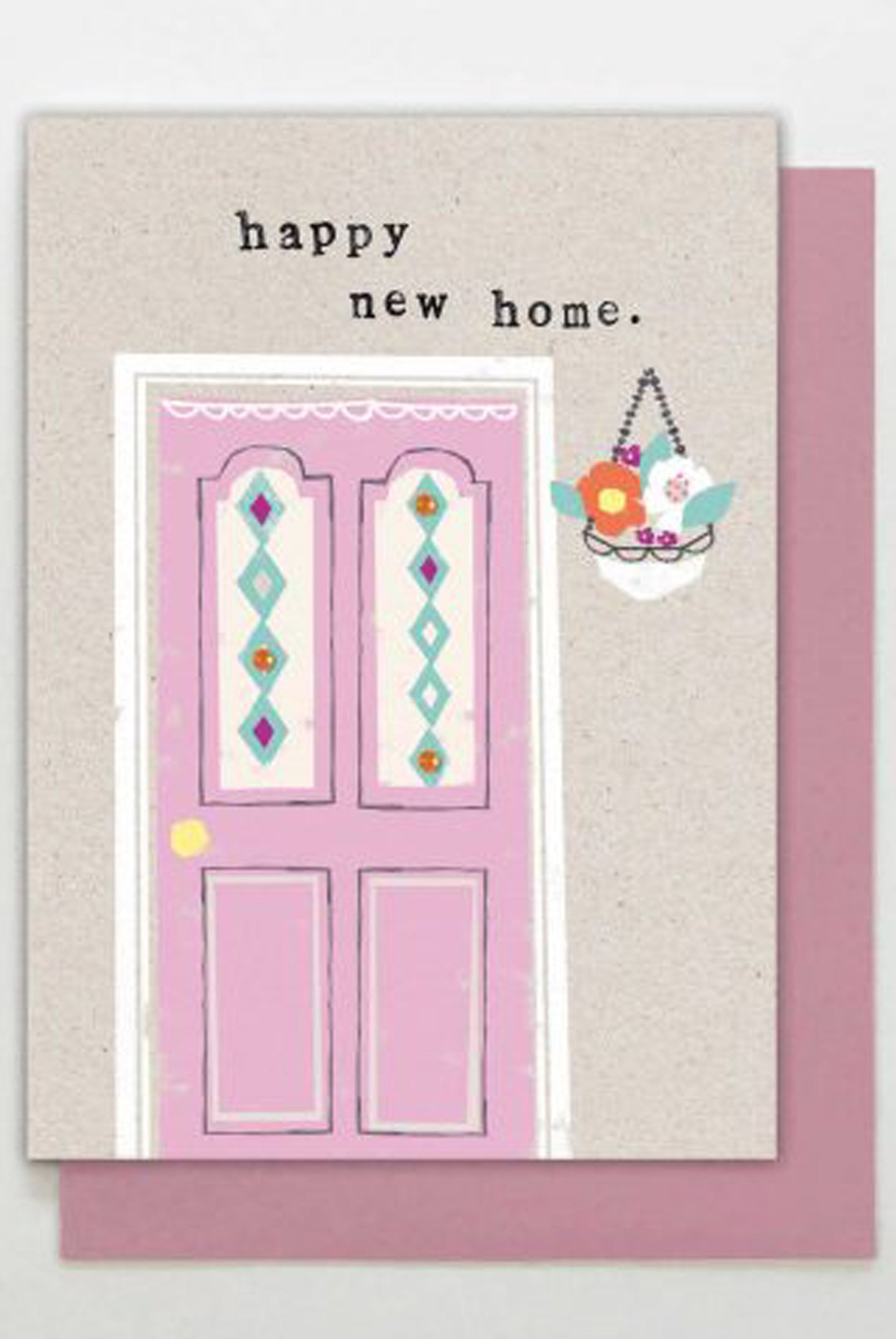 Pink Door New Home Card