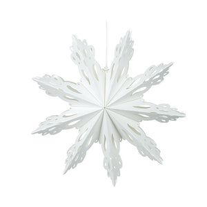 HS Hanging Paper Snowflake Small 30cm