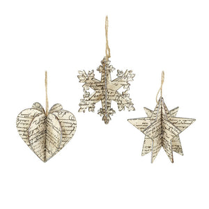 HS 3D Glitter Hanging Decoration - Snowflake