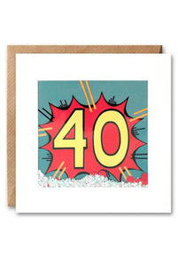 40th Kapow Shakies Birthday Card