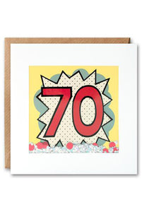 70th Kapow Shakies Birthday Card