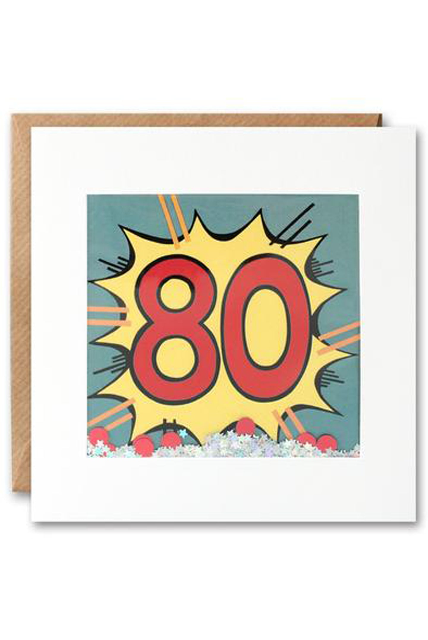 80th Kapow Shakies Birthday Card