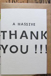 Kate Guest Massive Thank You Card