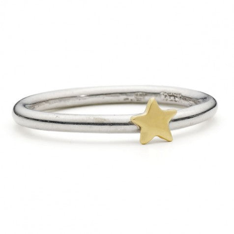 Alison Moore Lunar Silver and Gold Star Ring