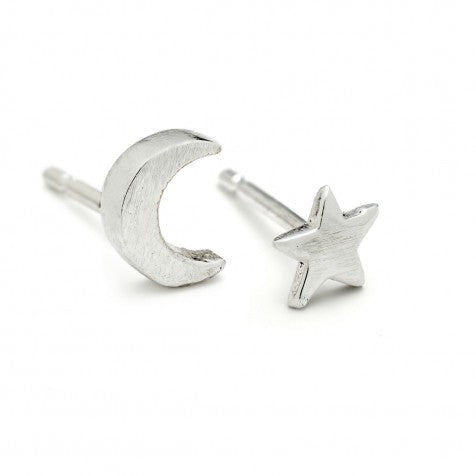 Alison Moore Silver Star and Moon Studs