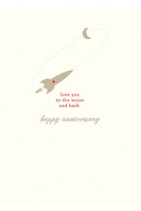 Rocket Anniversary Card