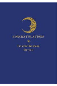 Moon Congratulations Card