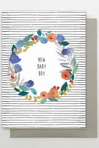 New Baby Boy Floral Card