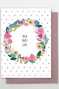 New Baby Girl Floral Card