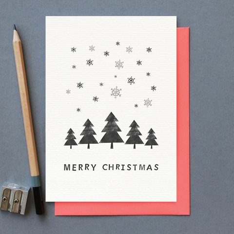 KG Merry Christmas Trees & Snow Card