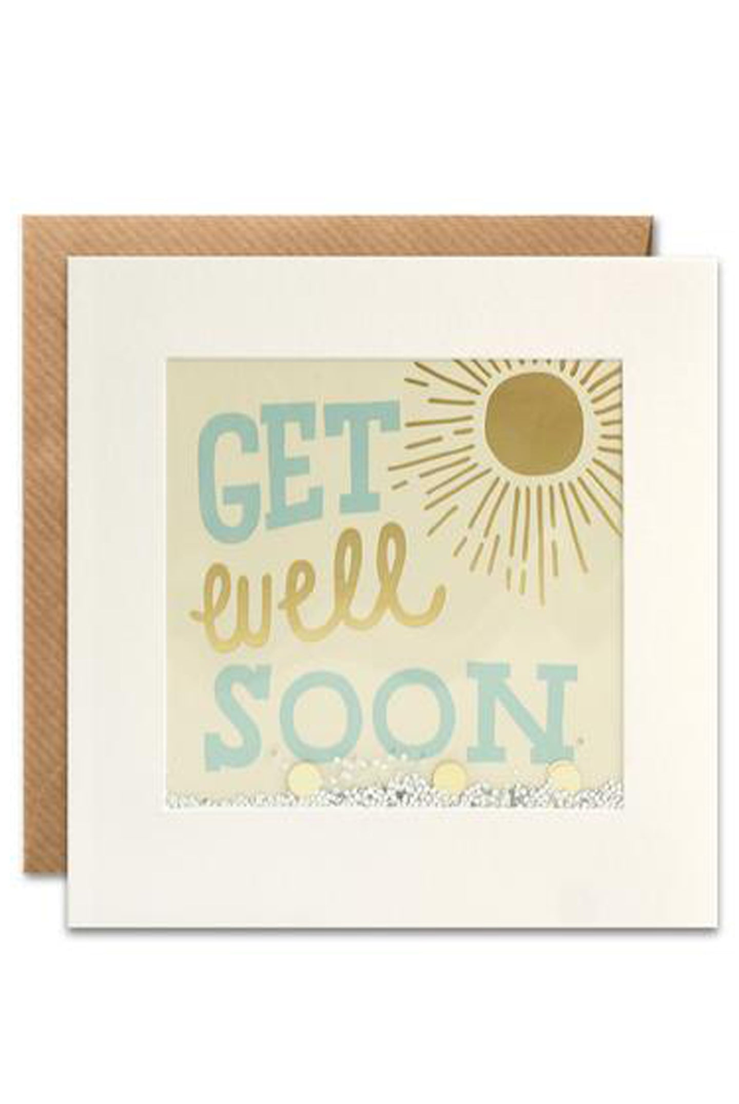Get Well Soon Glitter Shakies Card