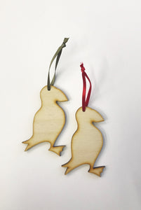 PF Wooden Decoration - Puffin