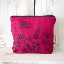 Load image into Gallery viewer, Linen Make Up Bag- Garden Collection