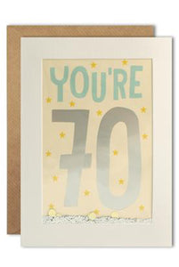 70th Amazing Shakies Birthday Card