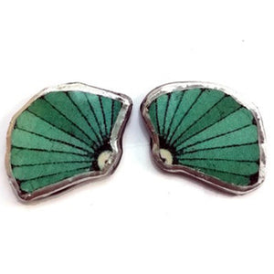 EllyMental Turquoise Shell Studs