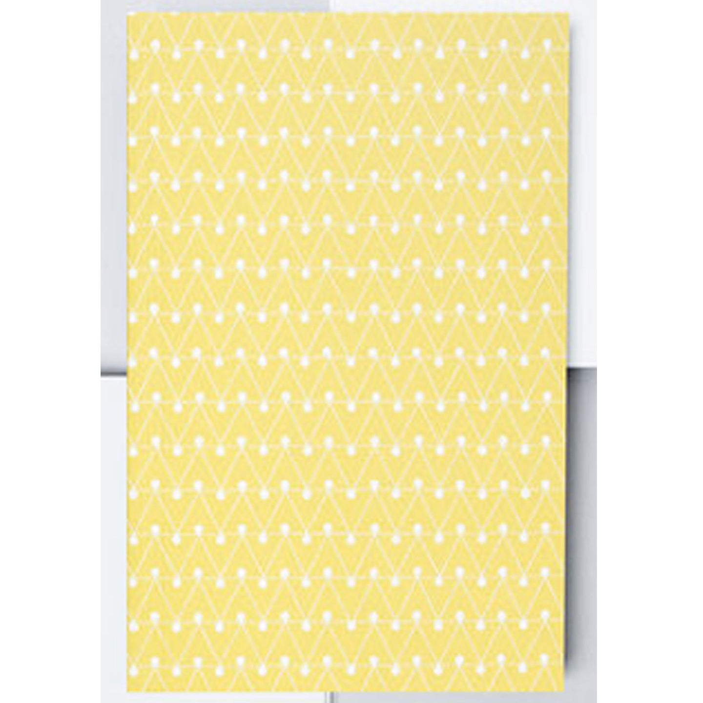 Layflat Notebook Dot Dash Leaf Green
