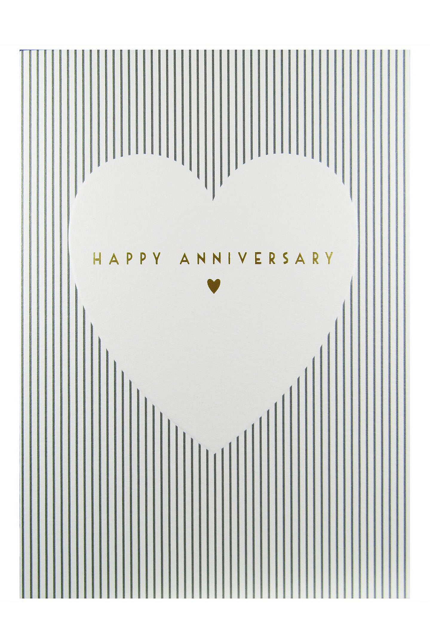 Gold Heart Anniversary Card