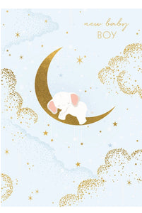 TAF Balloon Baby Boy Moon Card