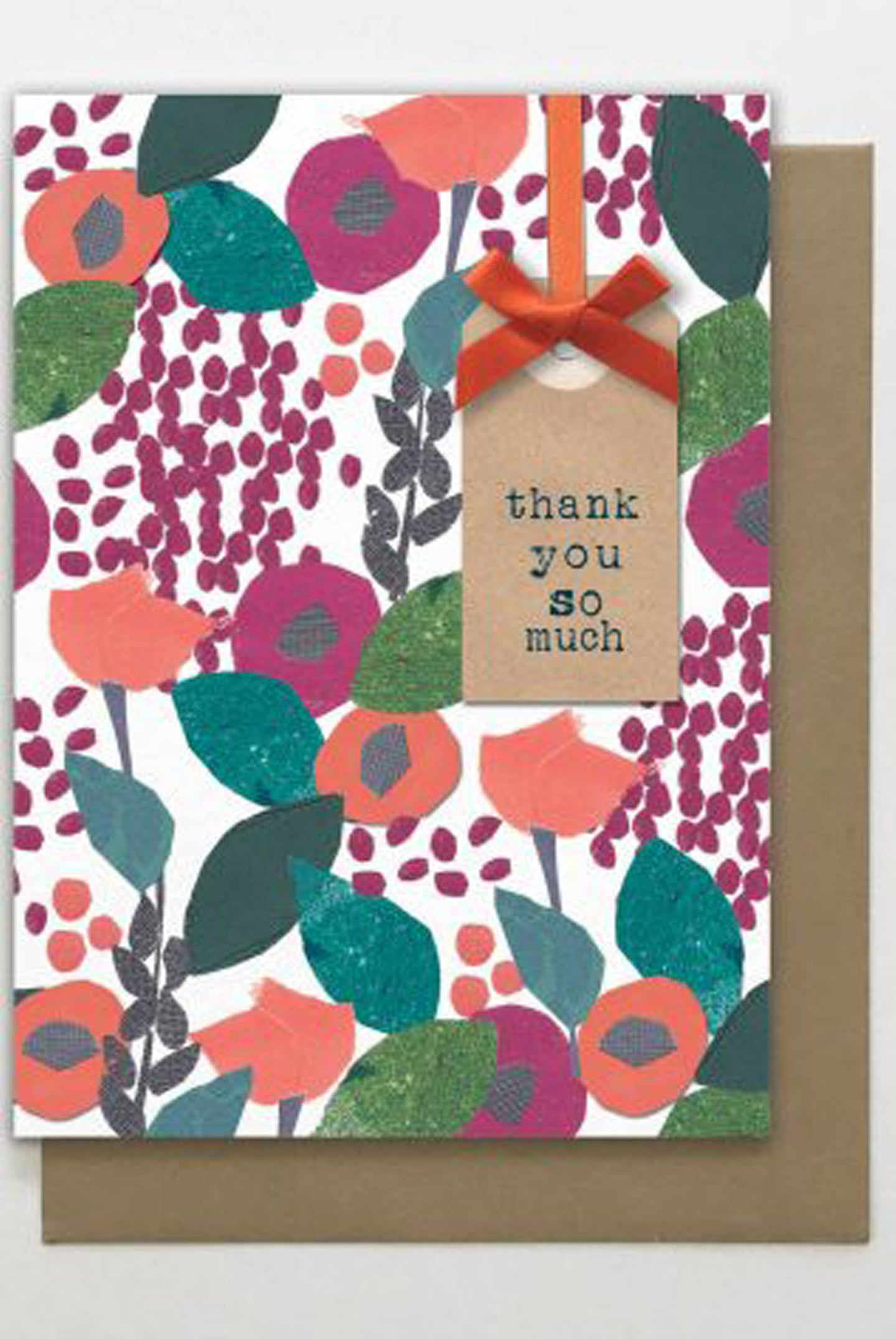 Thank You So Much Floral Card