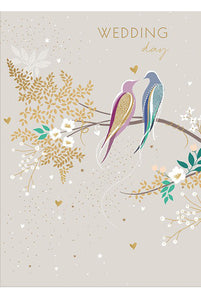 Wedding Day Birds Card