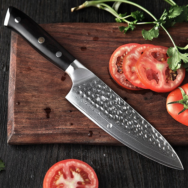XINZUO 6.5 inch Chef Knife 67 Layers Damascus Steel Kitchen Knives Ebony Handle New Design High Carbon Steel Cooking Knife Gift