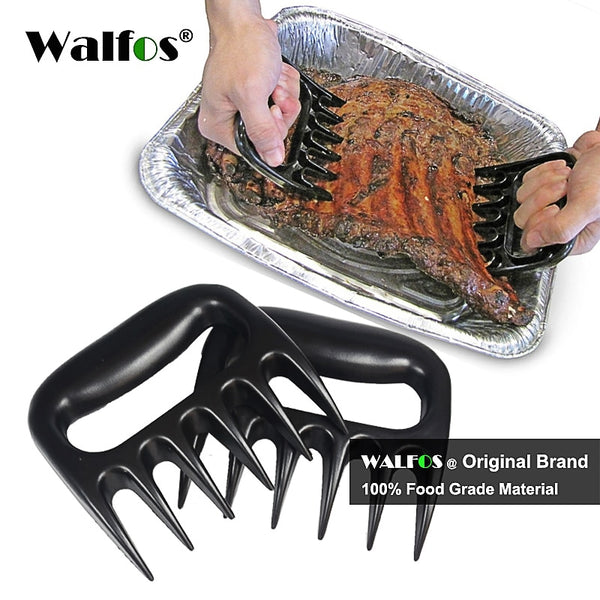 WALFOS 2 piece  Bear Meat Claws Shredding Handling & Carving Food Claw Handler Pulling Brisket from Grill Smoker or Slow Cooker