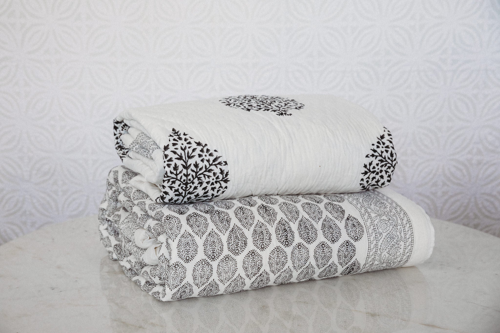 Cotton filled Bed Quilts