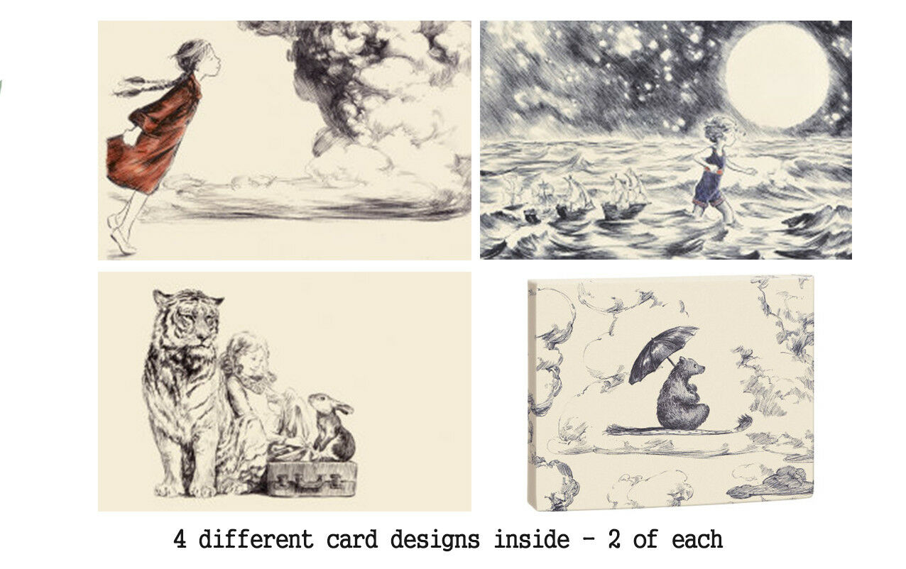 Roger La Borde - Bear on a magic carpet Notecards