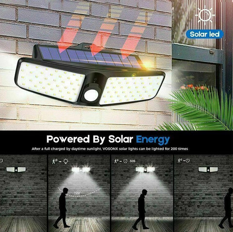 Solar powered motion lights for home