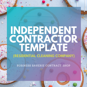 Independent Contractor Agreement (Residential Cleaning Company)