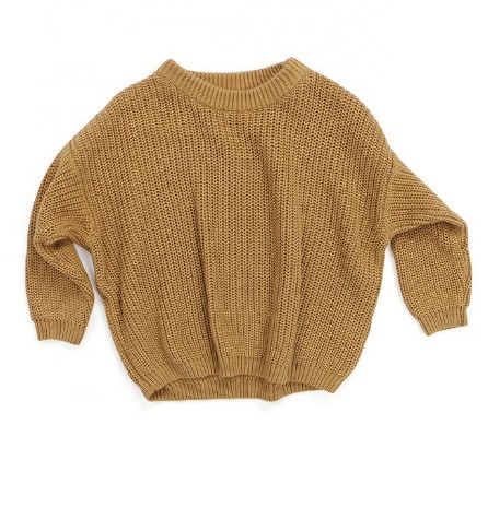 Chunky Knit Sweater | Mustard - Emi and Jo Baby