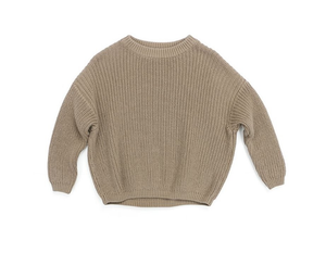 Chunky Knit Sweater | Taupe - Emi and Jo Baby