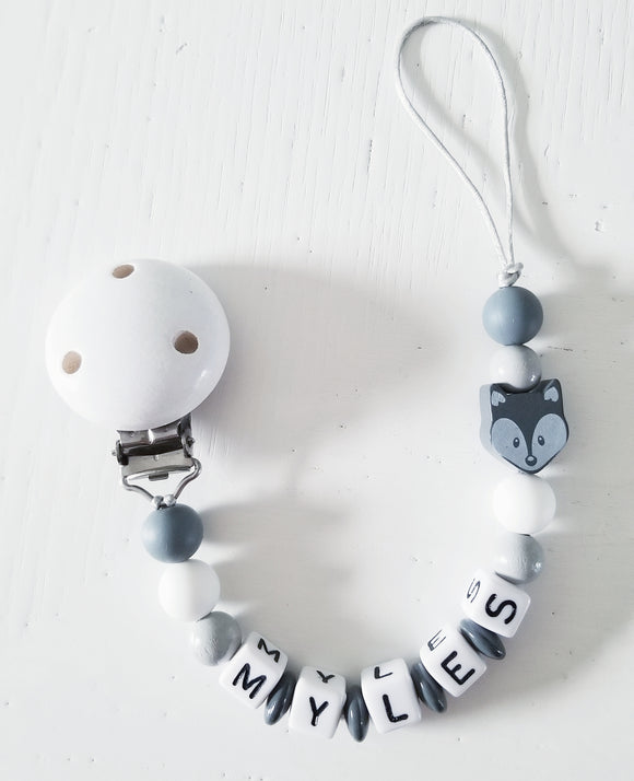 Personalized Pacifier Clip - Emi and Jo Baby