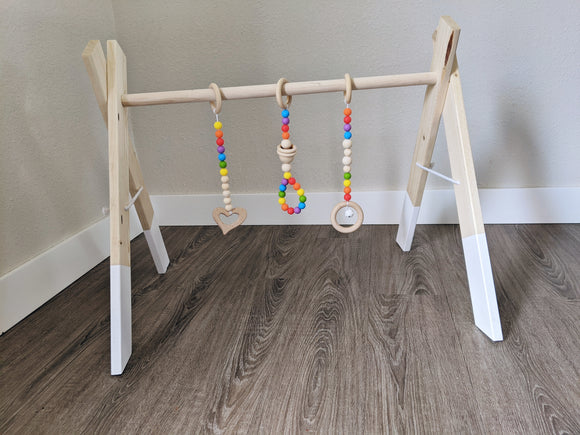 Wooden Baby Gym+Toys - Emi and Jo Baby