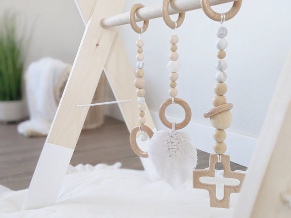 Wooden Baby Gym+Toys