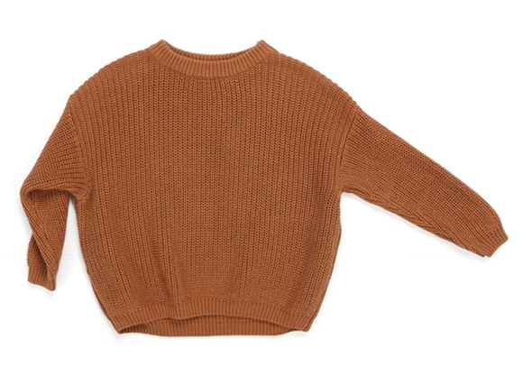 Chunky Knit Sweater | Chestnut - Emi and Jo Baby