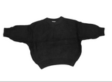 Chunky Knit Sweater | Black - Emi and Jo Baby
