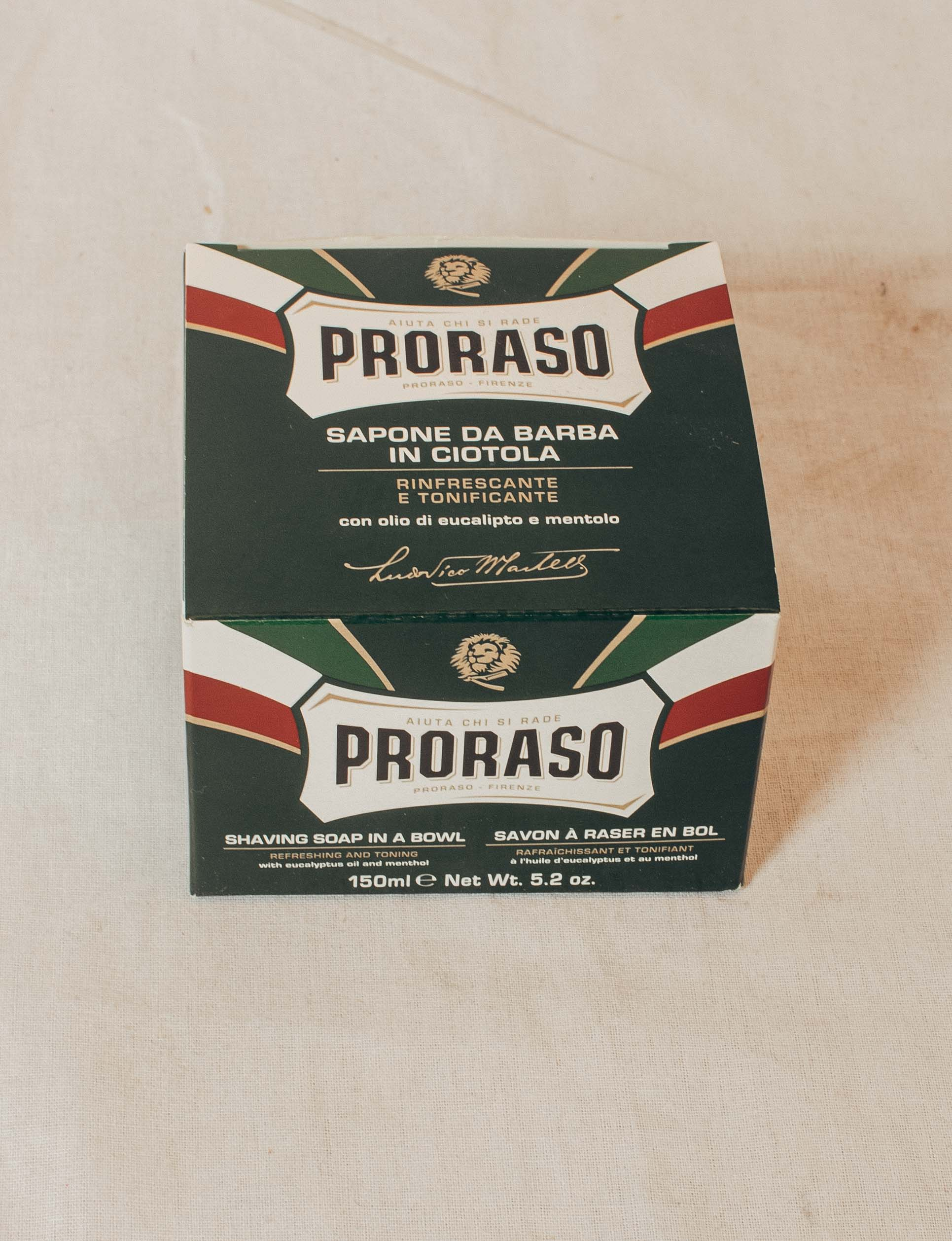 Proraso Shaving Soap in a bowl, 150ml