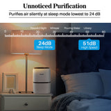 Okaysou AirMic4S Medical Grade Air Purifier for Allergies and Pets,White, Air Purifiers Cleaner for Large Room Bedroom, 300 Sq. Ft