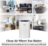 Okaysou AirMax8L Medical Grade H13 True HEPA Air Purifiers with Ultra-Duo Two Filters, White - 2 Packs